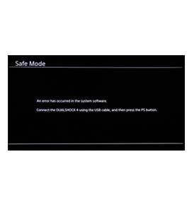 Playstation 4 software error herstel